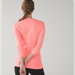 LULULEMON swiftly tech long sleeve coral size 4
